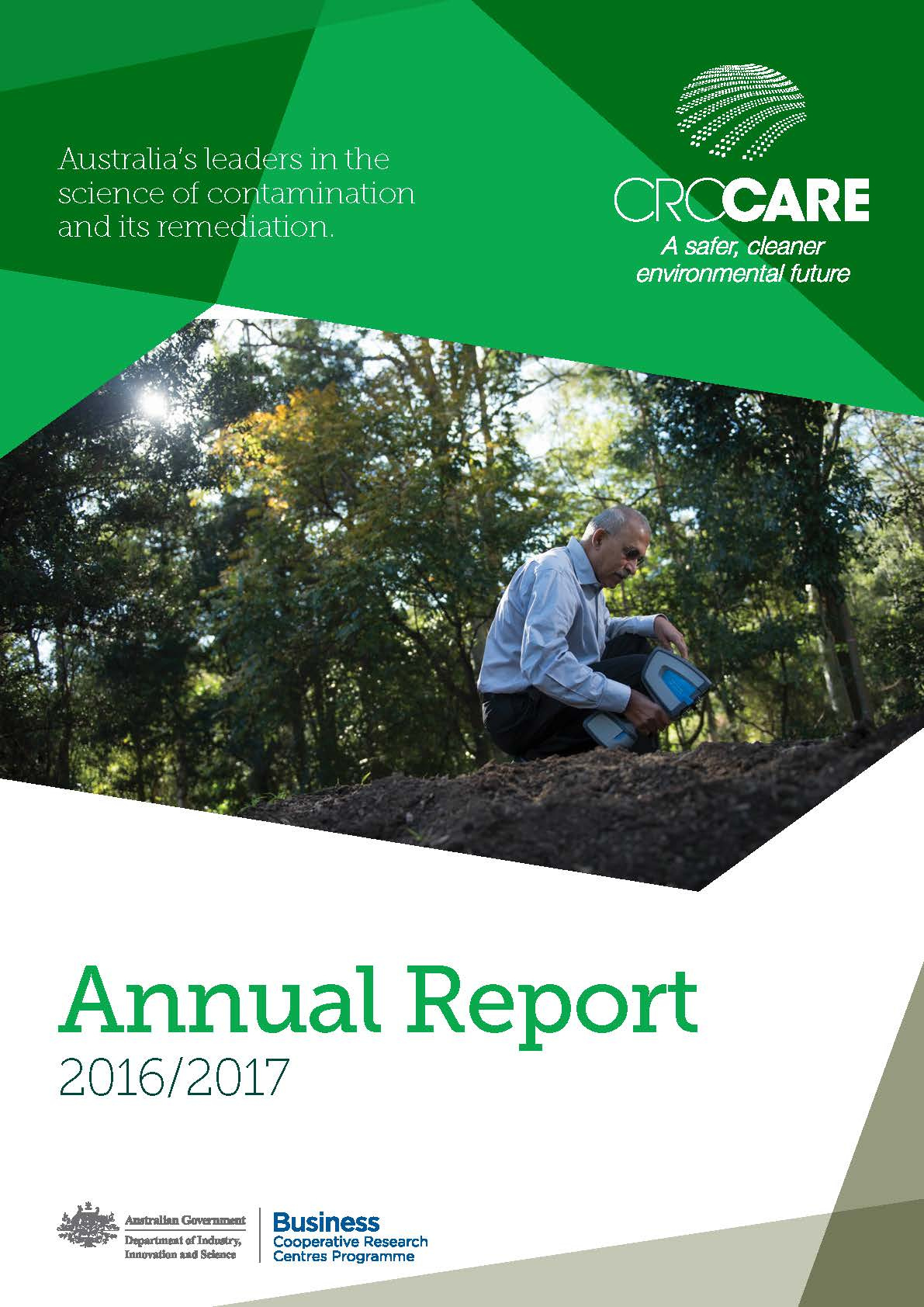 CRC CARE 2016-17 Annual Report cover